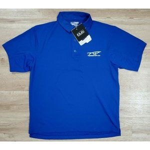 Huk Mens Icon Blue Polo Shirt Size Medium NWT